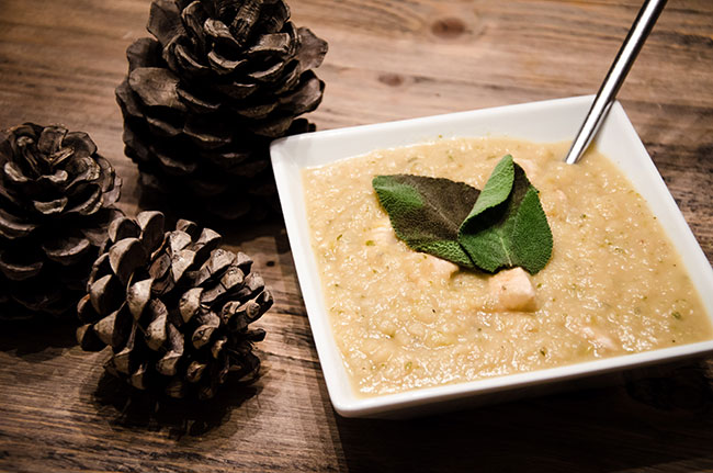 Celeriac Apple & Turkey Soup