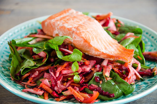 Salmon & Colourful Salad