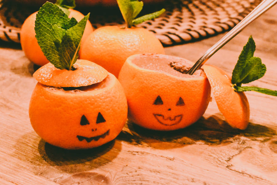 chocolate pumpkin pots