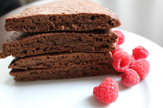 chocolate quinoa pancakes recipe image