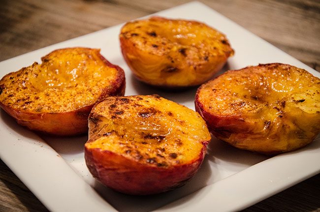 grilled peaches nectarines dessert recipe image
