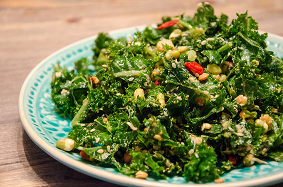 Kale Sprouted Beans & Goji Berry Salad