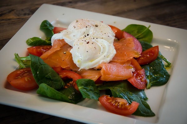 Poached Eggs & Salmon