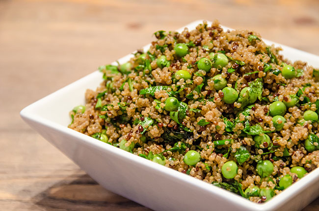 quinoa herb salad recipe image