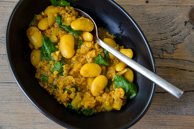 vegan butter bean dhal recipe image