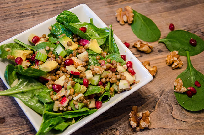 Pomegranate & Lentil Salad